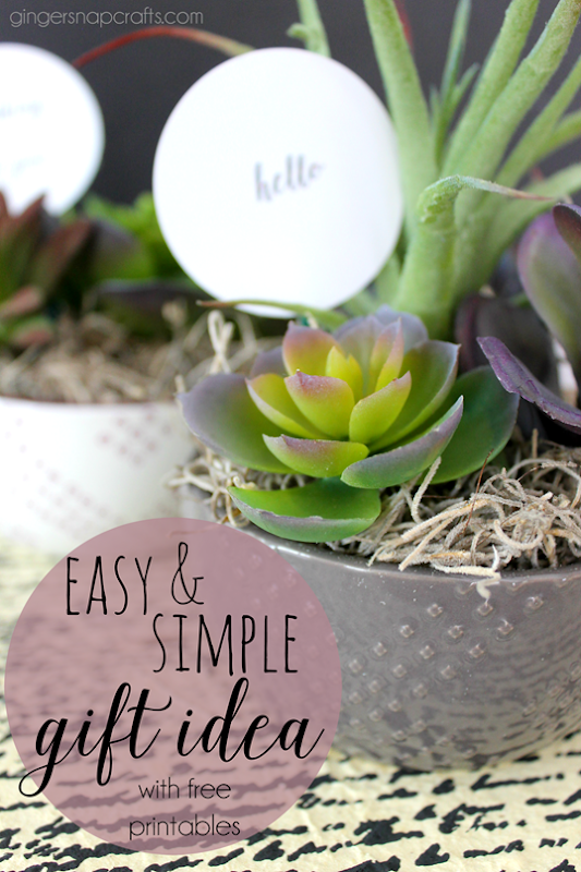 Easy & Simple Gift Idea with free printables at   GingerSnapCrafts.com