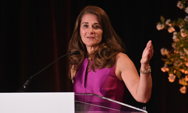 Honoree Melinda Gates speaks onstage as Helen Keller International celebrates their centennial anniversary with the 2015 Spirit Of Helen Keller Gala on May 18, 2015 at The New York Public Library in New York City. Photo: Bryan Bedder/Getty Images for Helen Keller International