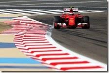 Kimi Raikkonen nelle prove libere del gran premio del Bahrain 2015