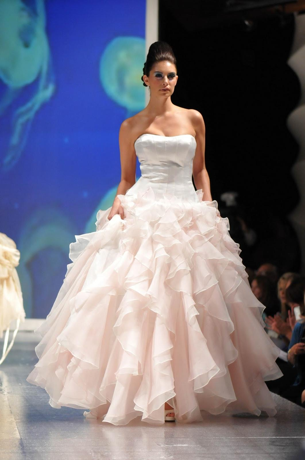 Strapless light pink ballgown