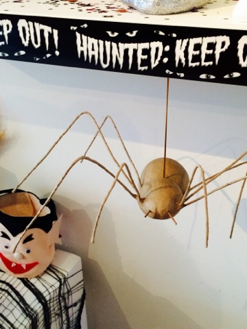 Halloween Craft - large spider mache decoration - Little House Lovely - Hobbycraft