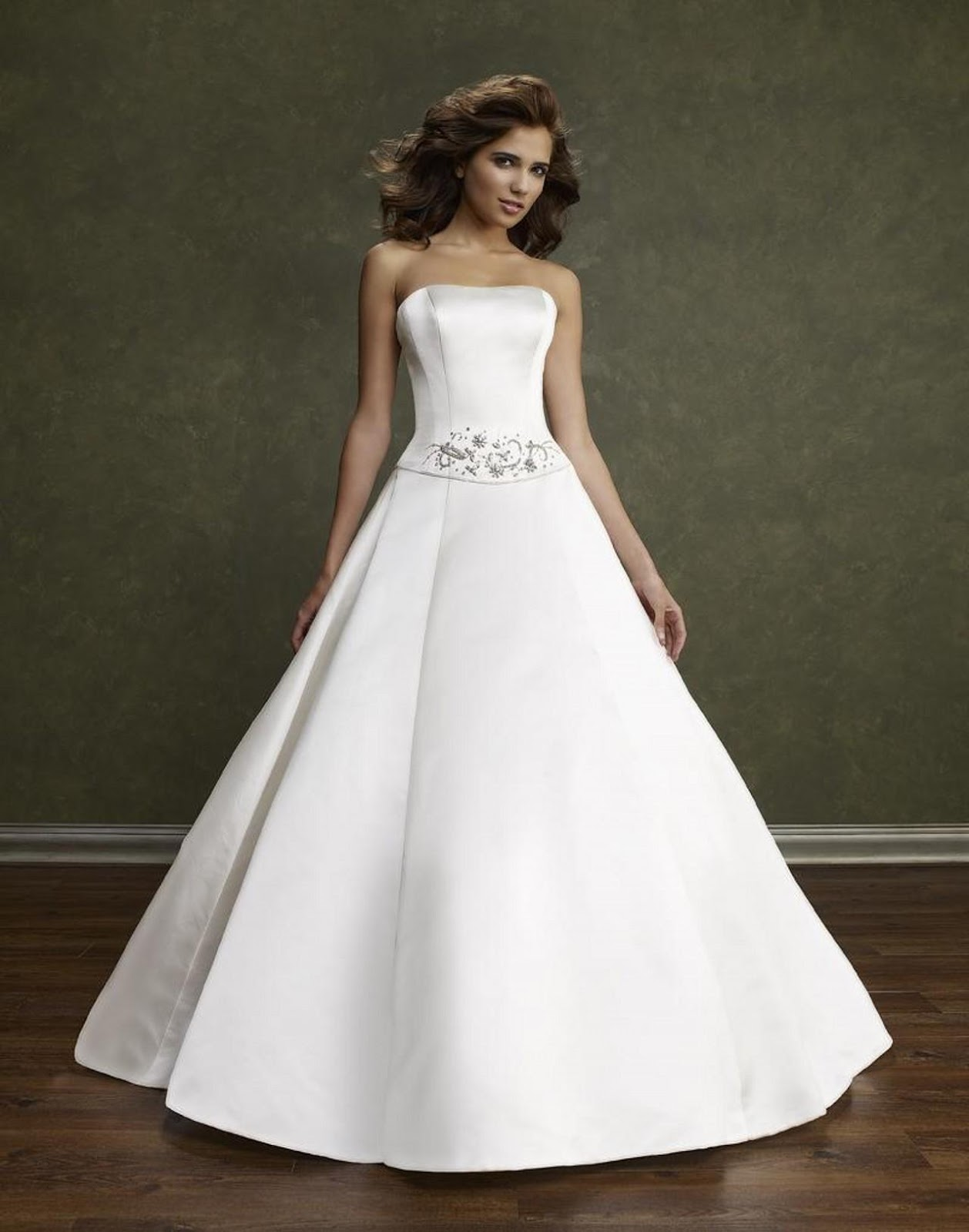 short satin wedding dresses