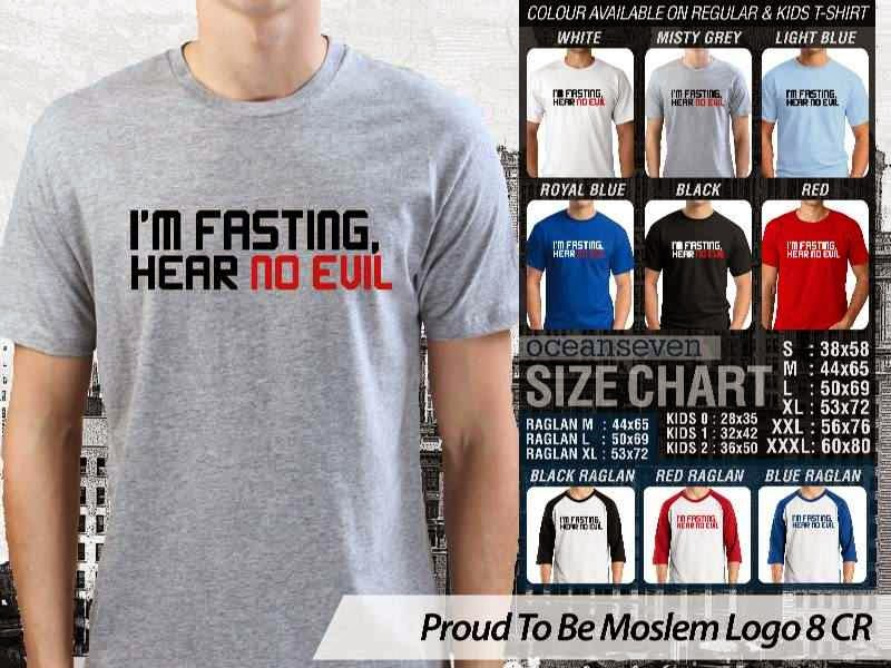 KAOS Islami Muslim Im fasting hear no evil Proud To Be Moslem Logo 8 distro ocean seven