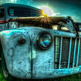 Old Sunshine by Chris Cavallo - Transportation Automobiles ( maine, automobile, car show, rusty, rust, old truck, antique, decay,  )