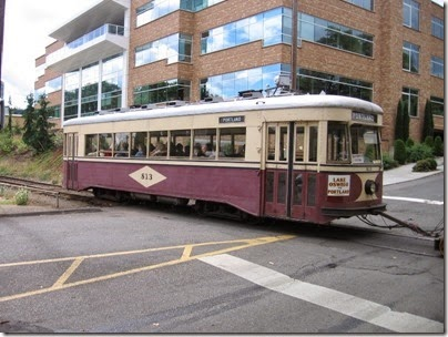 IMG_8448 Willamette Shore Trolley at Nebraska Street in Portland, Oregon on August 19, 2007