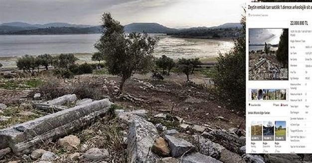 Ancient Greek city put up for sale in Turkey