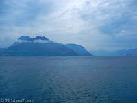 Auf der nördlichen Uferstraße des Lago di Lugano.