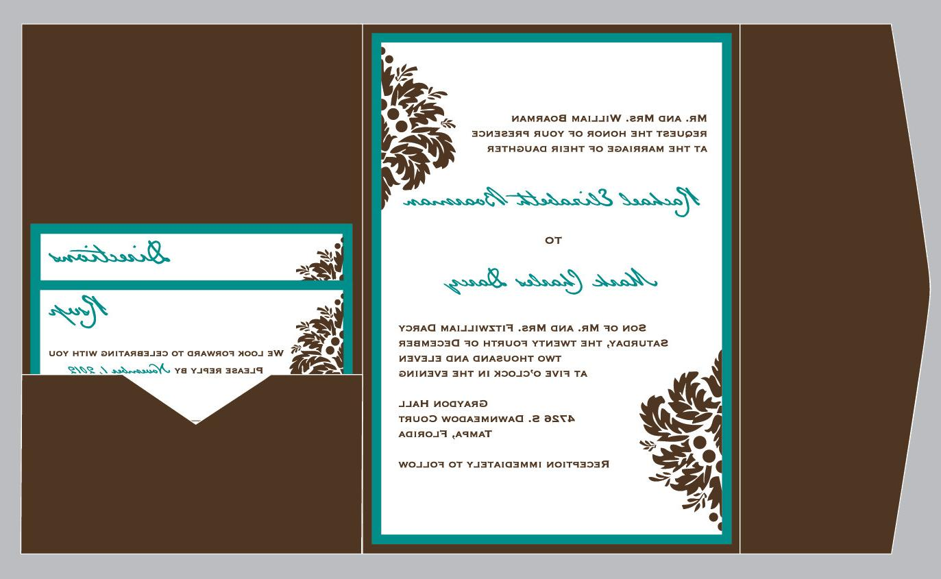 Damask Pocket Invitation