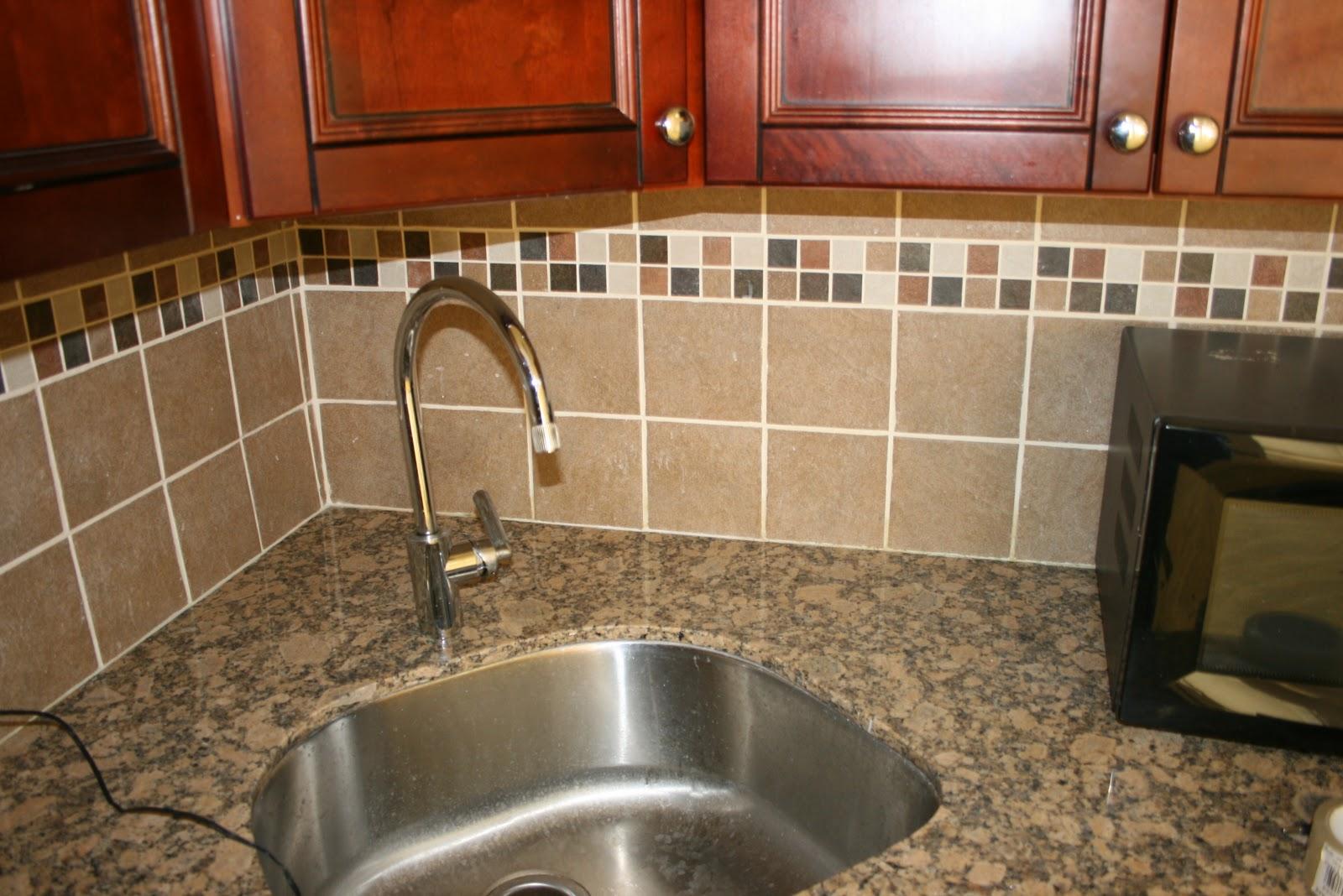 Kitchen tile backsplash, in Midtown Manhattan.