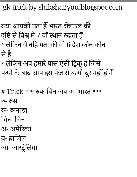 Latest GK - Hindi GK - सामान्य ज्ञान
