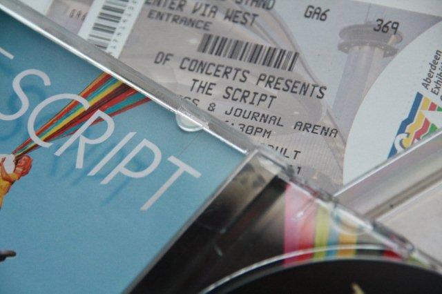Entrada concierto CD The Script