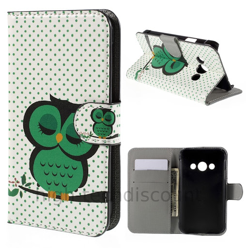 Housse etui coque portefeuille cuir pour samsung g388f for Housse xcover 4