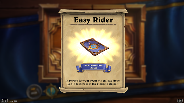 Hearthstone card mount in Heroes of the Storm