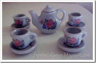 small porcelain tea set