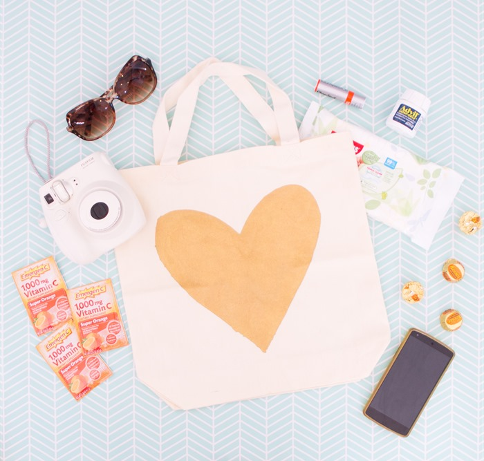 DIY gold heart tote bag (10)