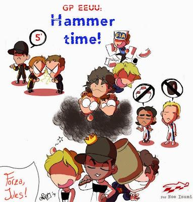 Hammer time - чиби-пилоты Noe Izumi по Гран-при США 2014