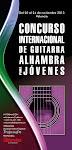Concurso Internacional de Guitarra Alhambra para Jóvenes. 2013.