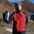 Kubek gorącej herbaty na dobry początek dnia piątego.