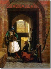 Jean-Leon_Gerome_XX__Arnaut_Guards_in_Cairo_1861