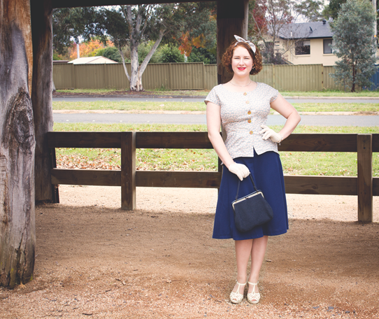 Full 1940's look for autumn | Lavender & Twill