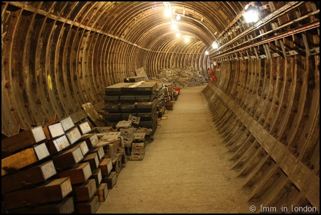 Stored Materials in Access Tunnel in Charing Cross Station