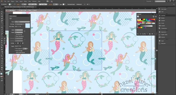 2015 May 26 Spoonflower mermaids contest illustration hazelfishercreations 3