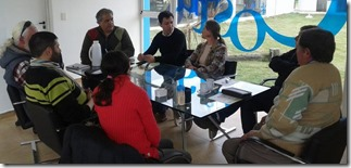 Representantes de los museos de La Costa reunidos en la Secretaría de Turismo