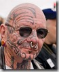 Face tattoo