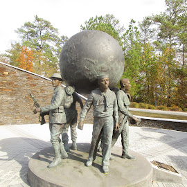 We Got the Whole World on our Shoulders by David Jarrard - Buildings & Architecture Statues & Monuments ( army, marines, navy, military fighters )