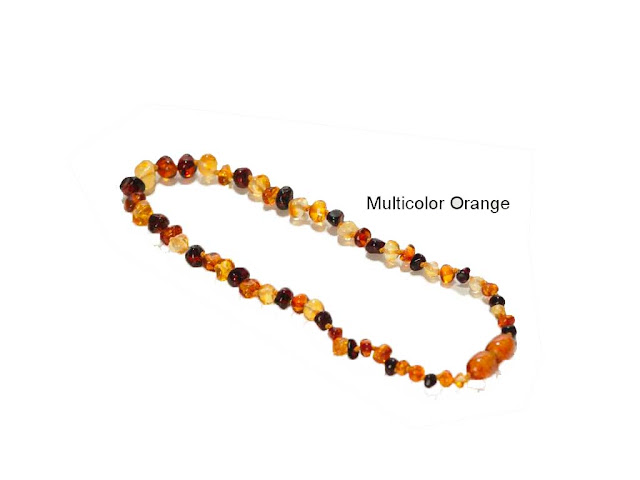 Collana d'Ambra Adulti Multicolor Orange