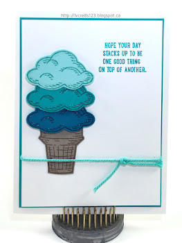 Linda Vich Creates: Bittersweet Card Class. Playful ice cream scoops created with the Sprinkles of Life stamp set.