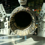 F16 engine at Dutch National Military Museum Soesterberg in Soest, Utrecht, Netherlands