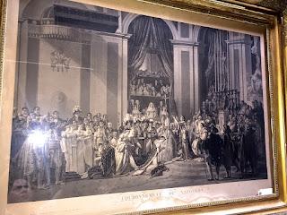 Большая антикварная гравюра в позолоченной раме. Ампир 19-й век. 130/101 см. 1900 евро.