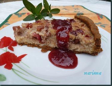 tarta de cerezas silvestres y gofio,racion1 copia
