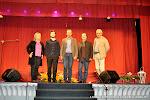 49: La Concejala de Cultura de Cheste Rosa Mª Cervera, el guitarrista Antoine Morinière, el Alcalde David Doménech, el Director Artístico de las Jornadas José Luis Ruiz del Puerto y el Director del Instituto Francés, Pascal Letellier