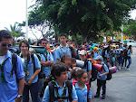 El Grupo antes de entrar en el Recinto Ferial de Tenerife