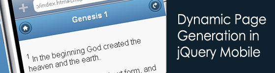 Holy Bible - jQuery Mobile Viewer