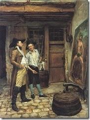 Jean Louis Ernest Meissonier--The sign painter.