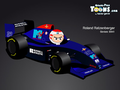 Роланд Ратценбергер Simtek S941 - 1994 Grand Prix Toons