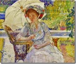 1 Karl Albert Buehr (German-born American Painter, 1866-1952) The garden seat