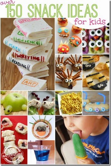 150 cute snack ideas for kids - LOVE this list!!! Great for summer or back to school. Kids are going to love these!