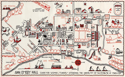 Map of the Week Vintage Campus Maps for Back to School
