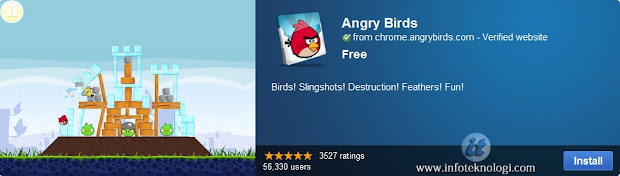 Bermain Angry Bird di Google Chrome