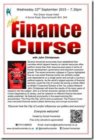 Finance Curse 23 September 2015