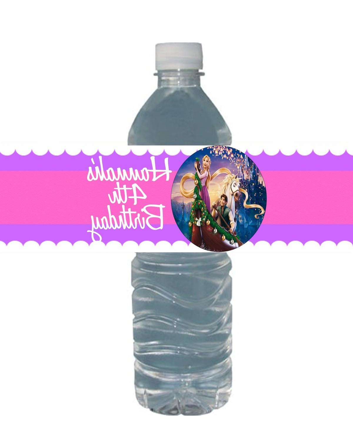Toppers and other labels for a valentine water usefulwater bottle purpose