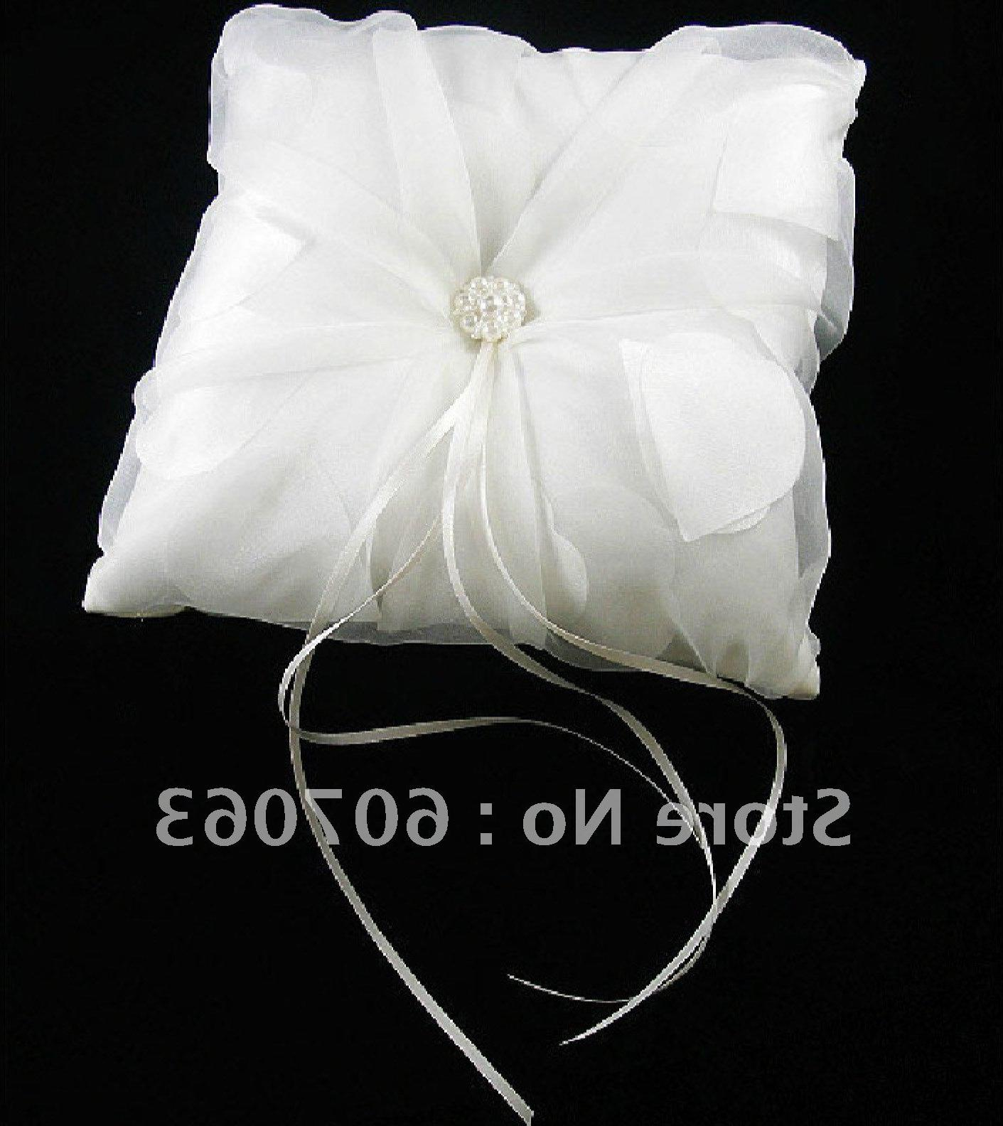 Free Shipping 30pcs  NEW wholesale & retail Satin Wedding Ring Pillow