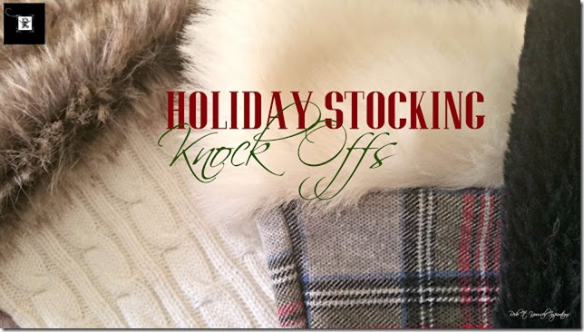 holiday stocking knock offs redo it yourself inspirations