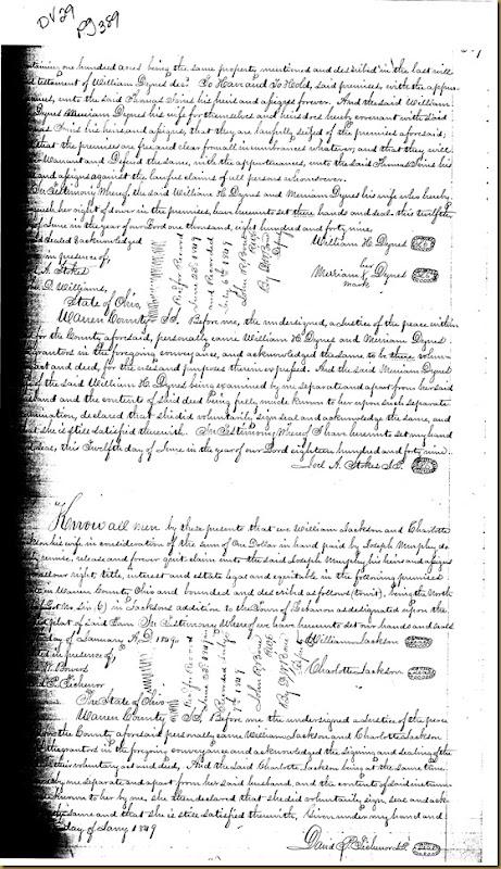 William H. Dyres, Merriann Dyres of Warren Co, OH conveysThomas Irwin 18491