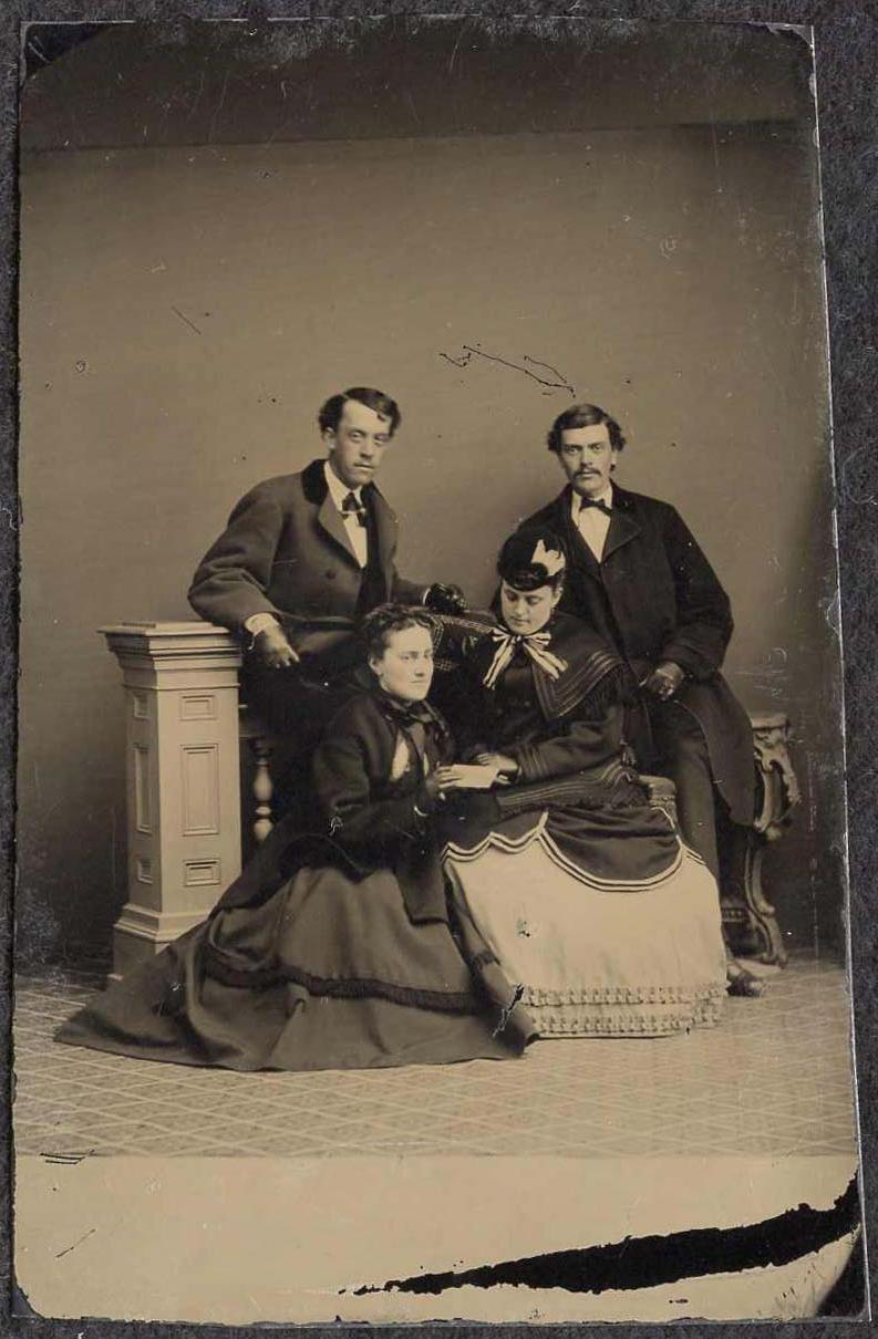 Tintype of two couples with
