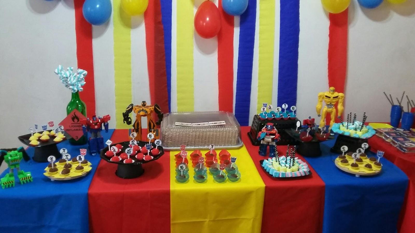 Cozinhando em casa Decoraç u00e3o de aniversário infantil -> Decoração De Aniversario Infantil Com Tnt
